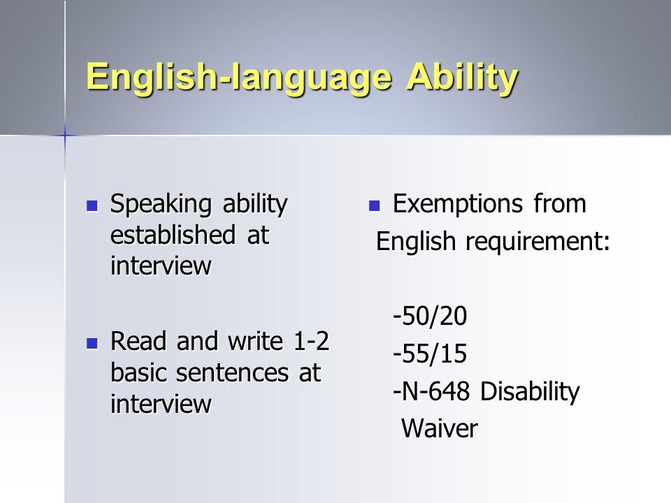 English-language Ability