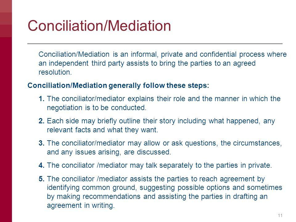 Conciliation/Mediation