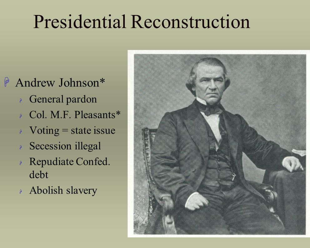 Presidential Reconstruction