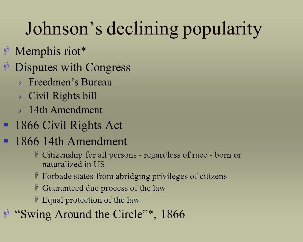 Johnson's declining popularity
