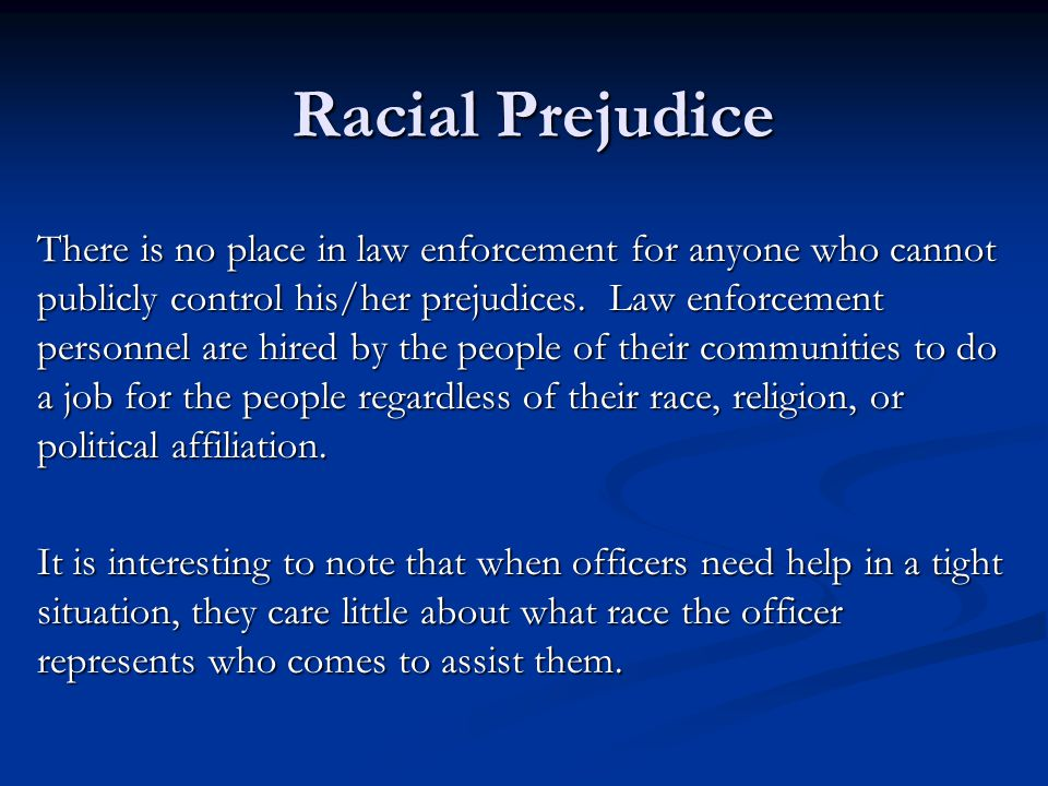 Racial Prejudice