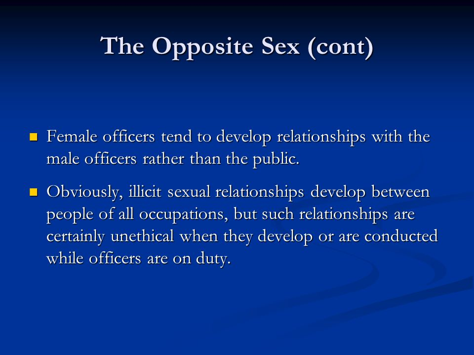 The Opposite Sex (cont)