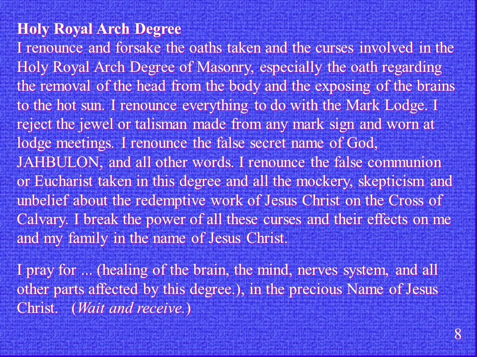 Holy Royal Arch Degree