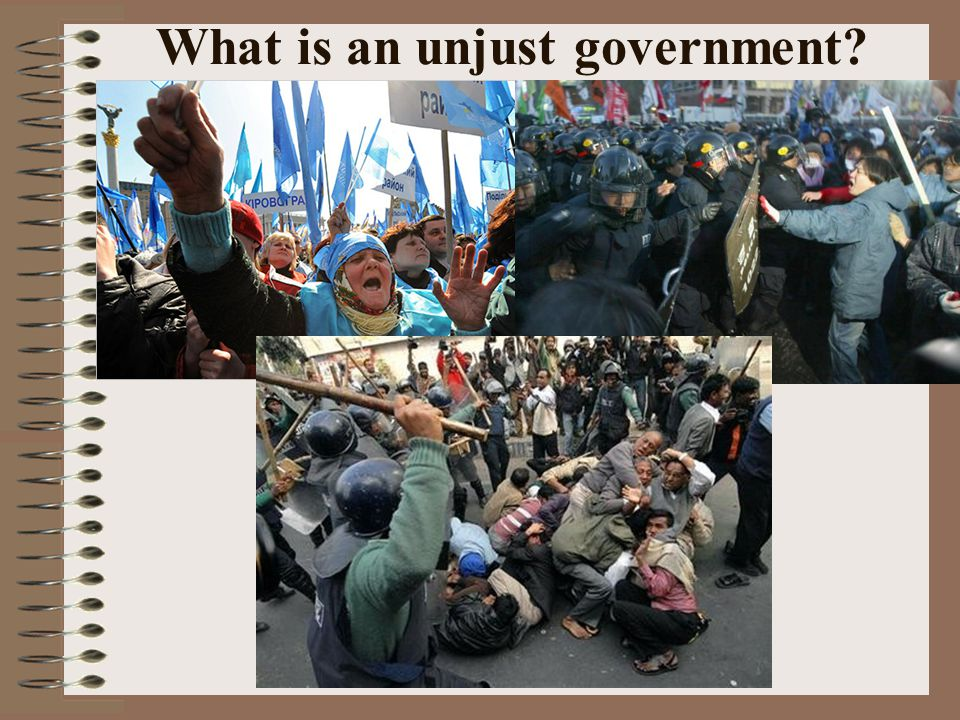 What is an unjust government