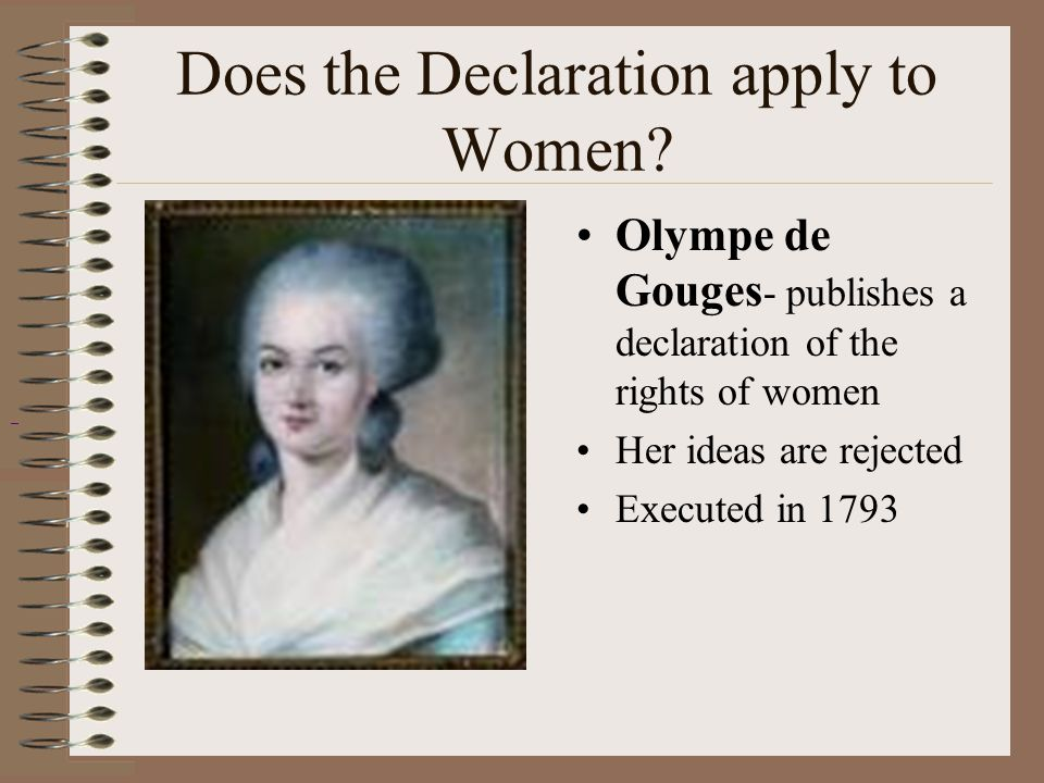 Does the Declaration apply to Women