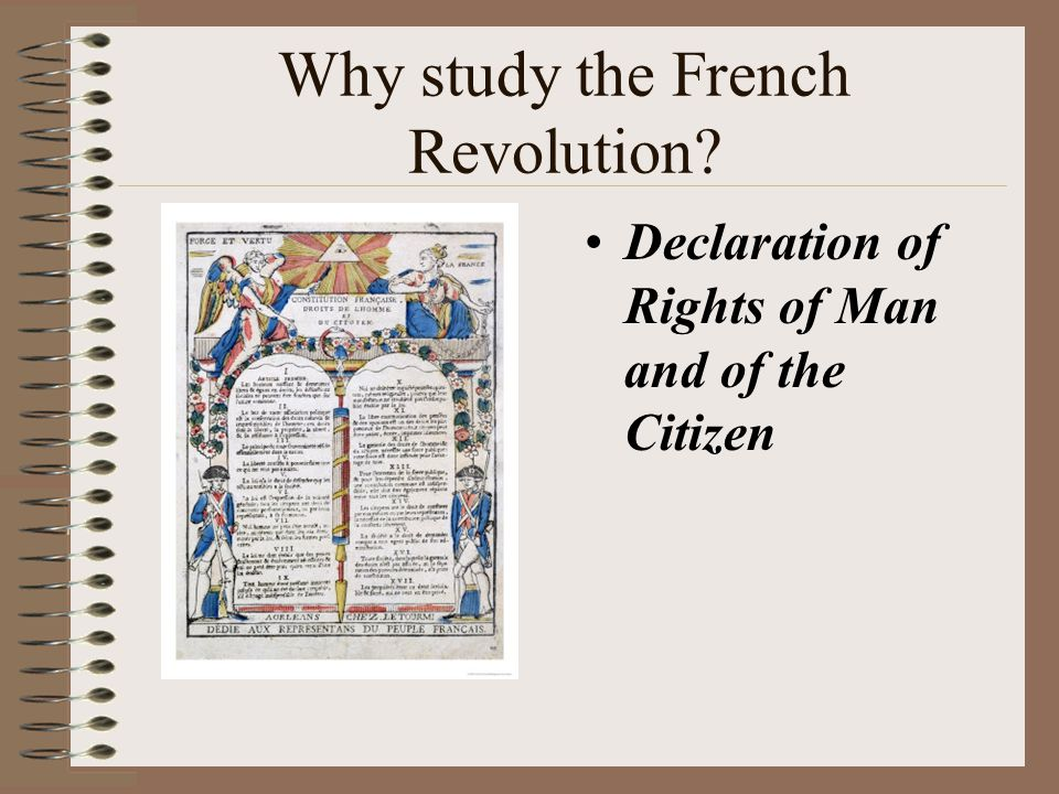 Why study the French Revolution