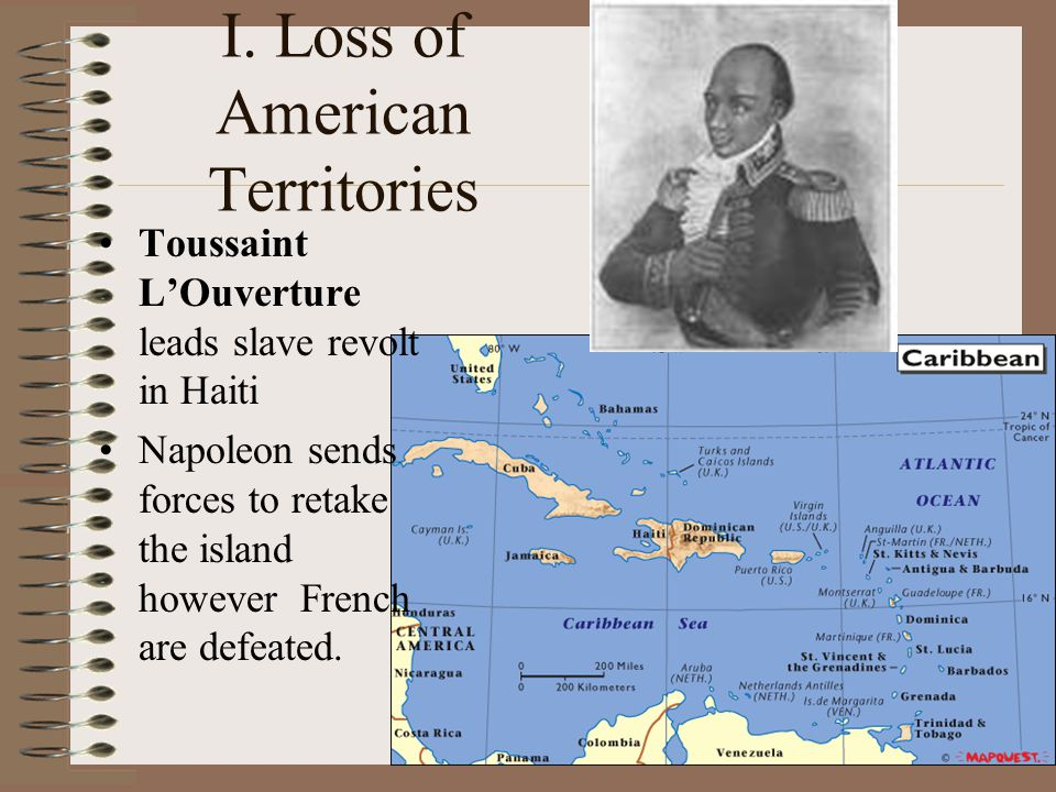 I. Loss of American Territories