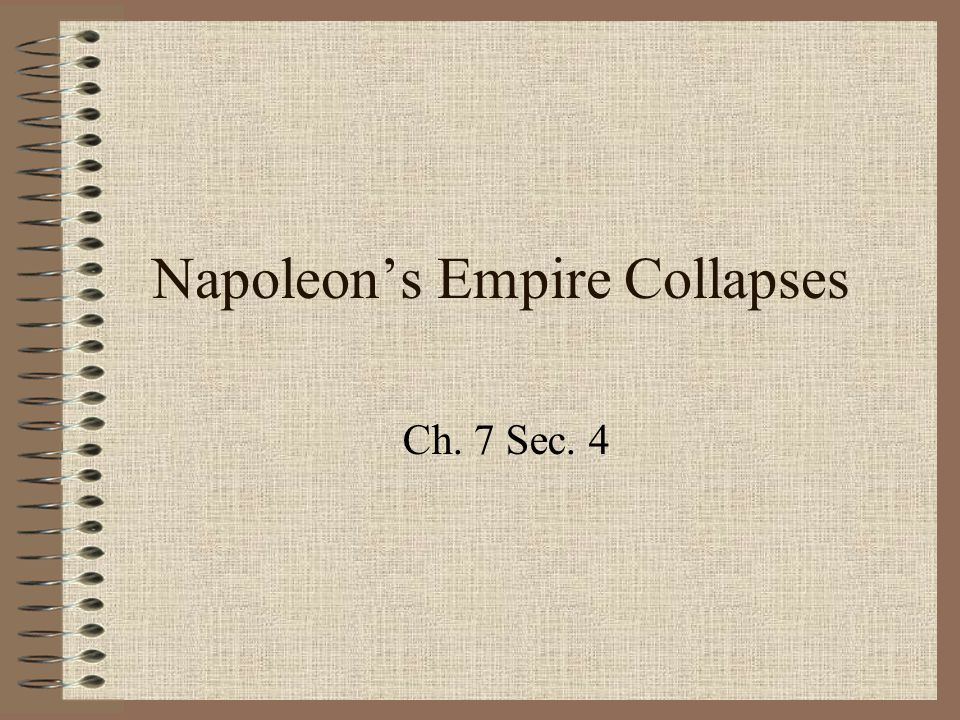 Napoleon's Empire Collapses