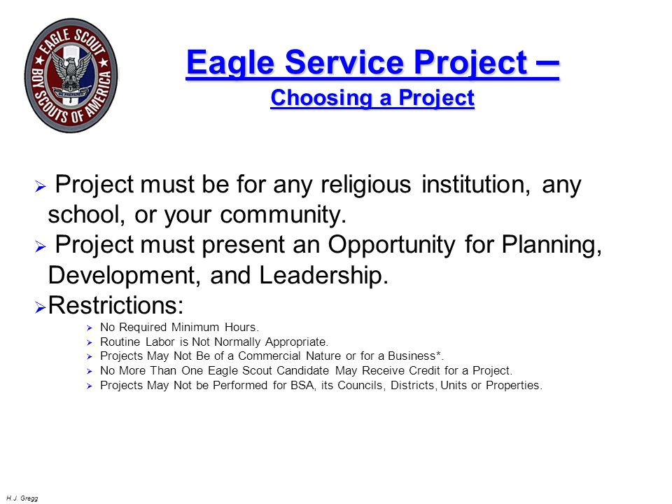 Eagle Service Project –Choosing a Project