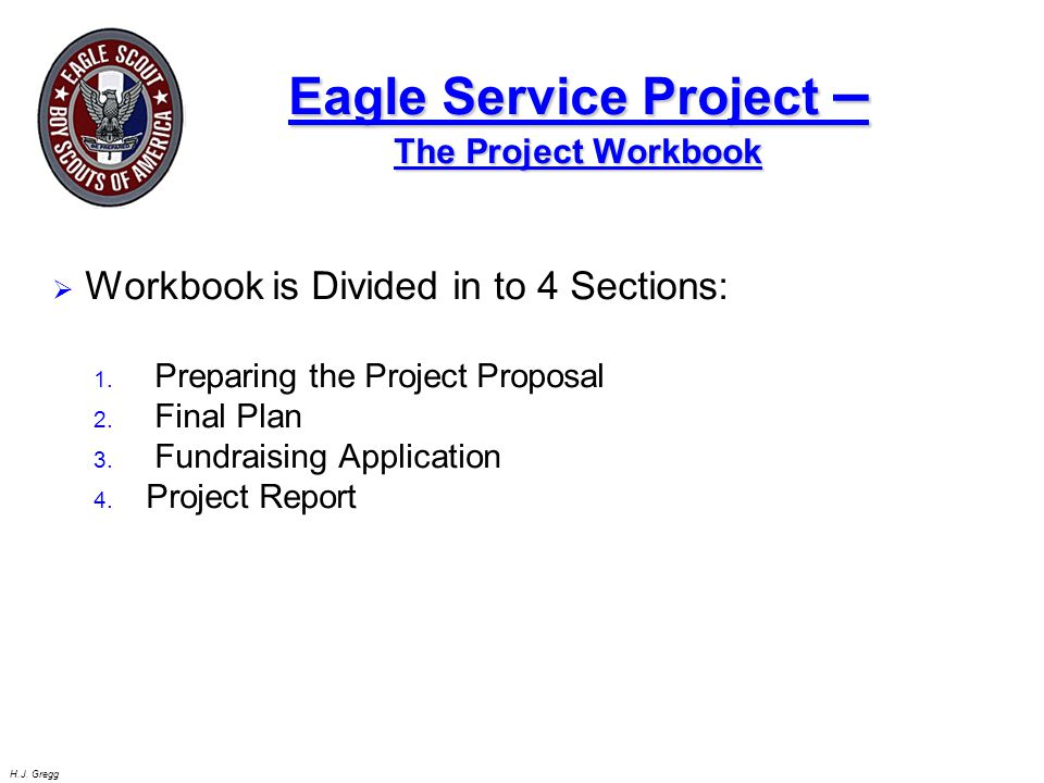 Eagle Service Project – The Project Workbook
