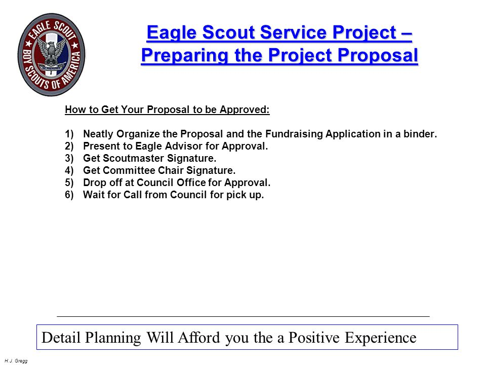Eagle Scout Service Project –Preparing the Project Proposal