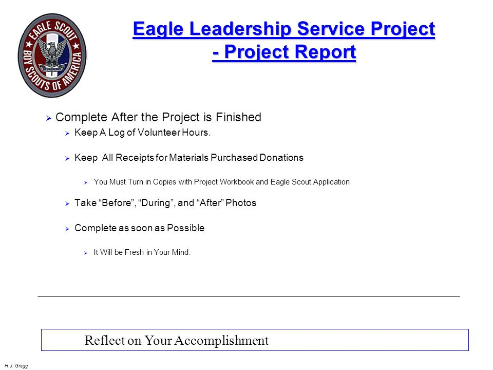 Eagle Leadership Service Project - Project Report