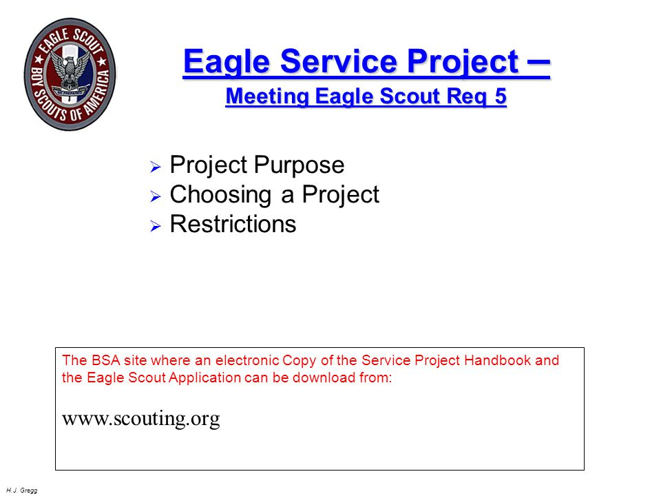 Eagle Service Project –Meeting Eagle Scout Req 5