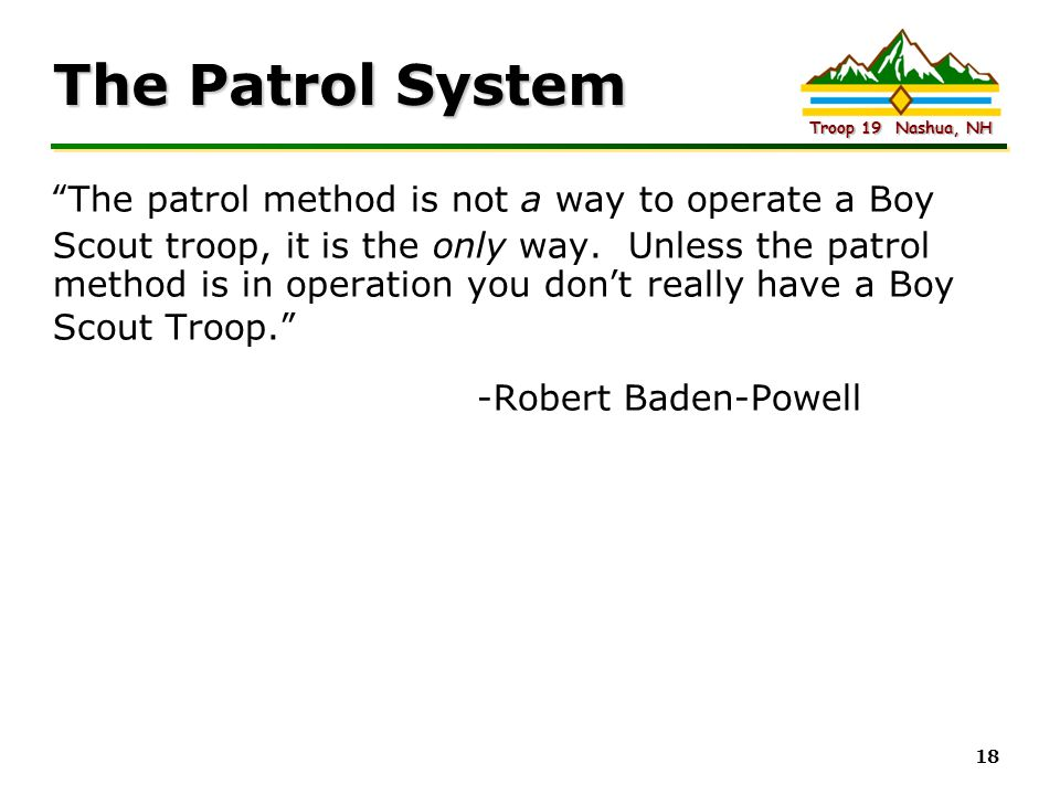 The Patrol System