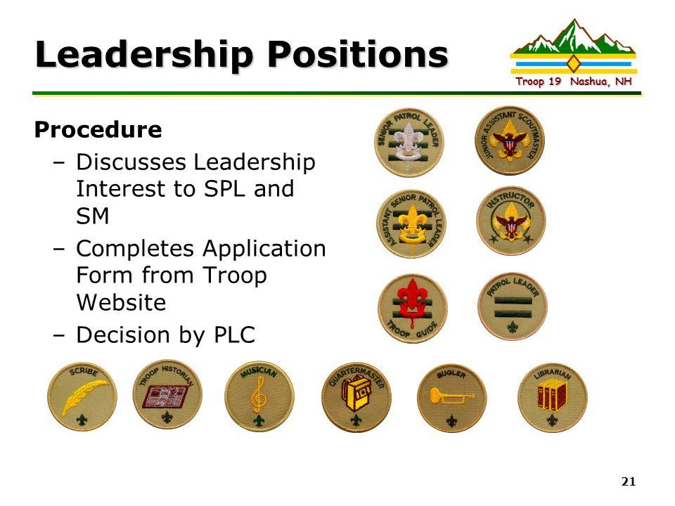 Leadership Positions Procedure