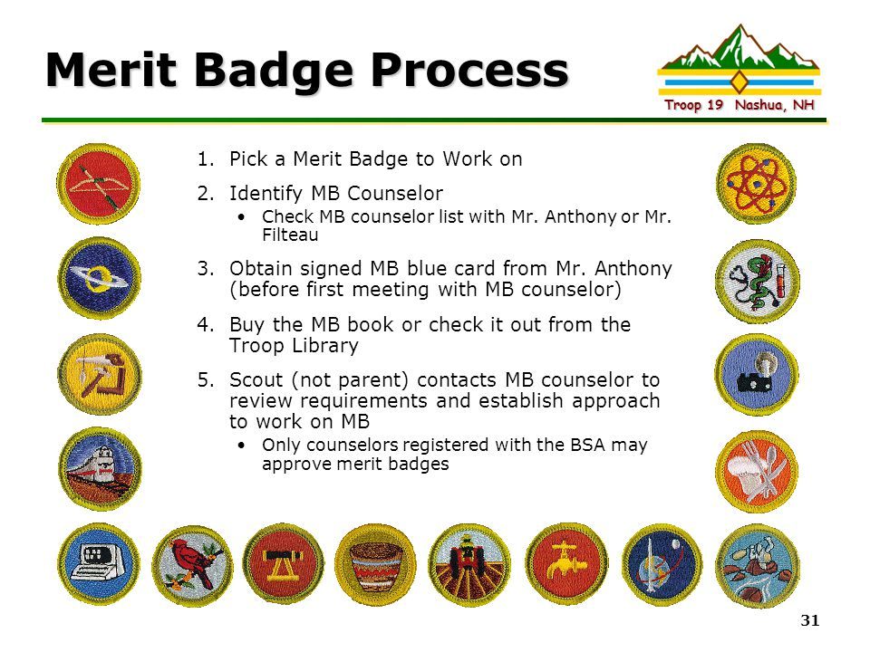 Merit Badge Process Pick a Merit Badge to Work on