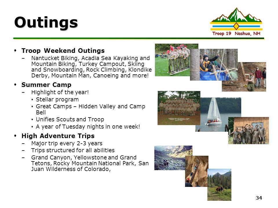 Outings Troop Weekend Outings Summer Camp High Adventure Trips