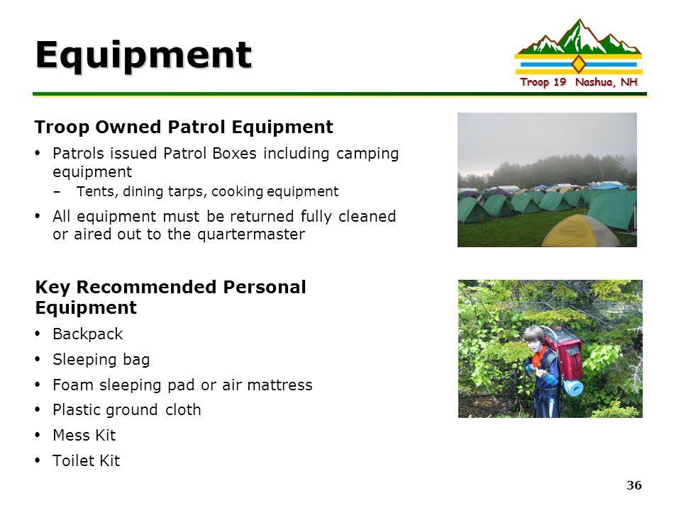 Equipment Troop Owned Patrol Equipment