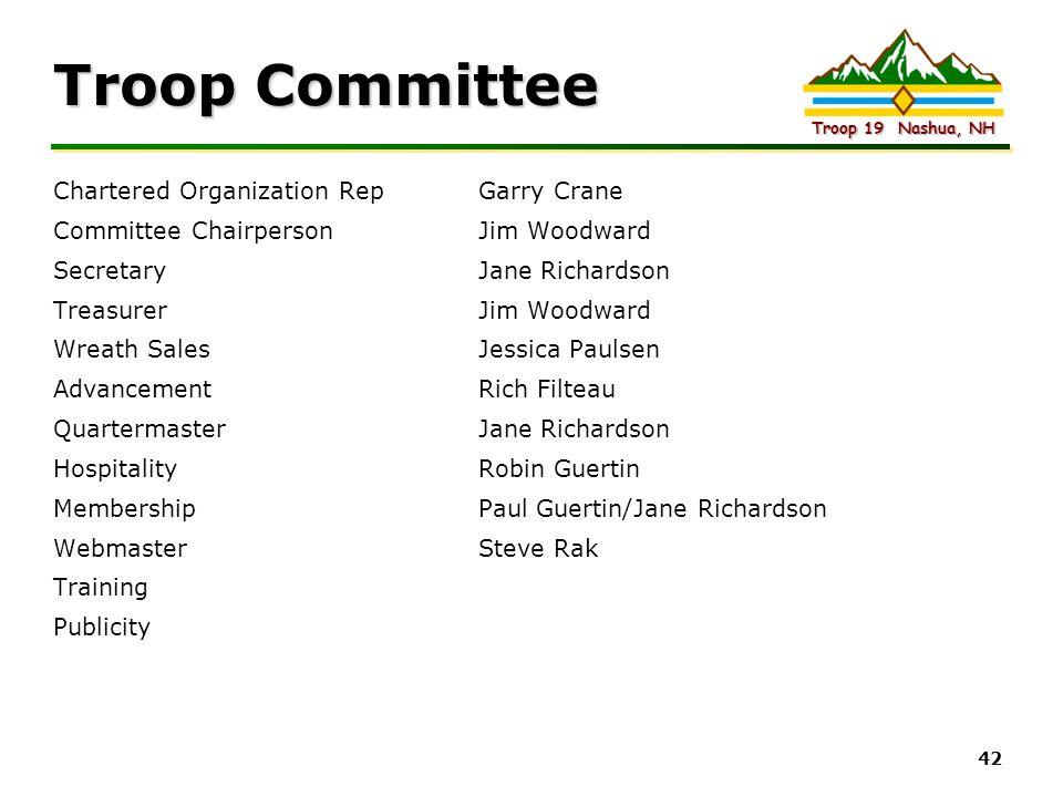Troop Committee Chartered Organization Rep Garry Crane