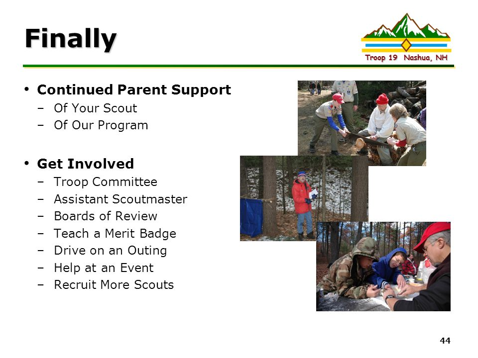 Finally Continued Parent Support Get Involved Of Your Scout