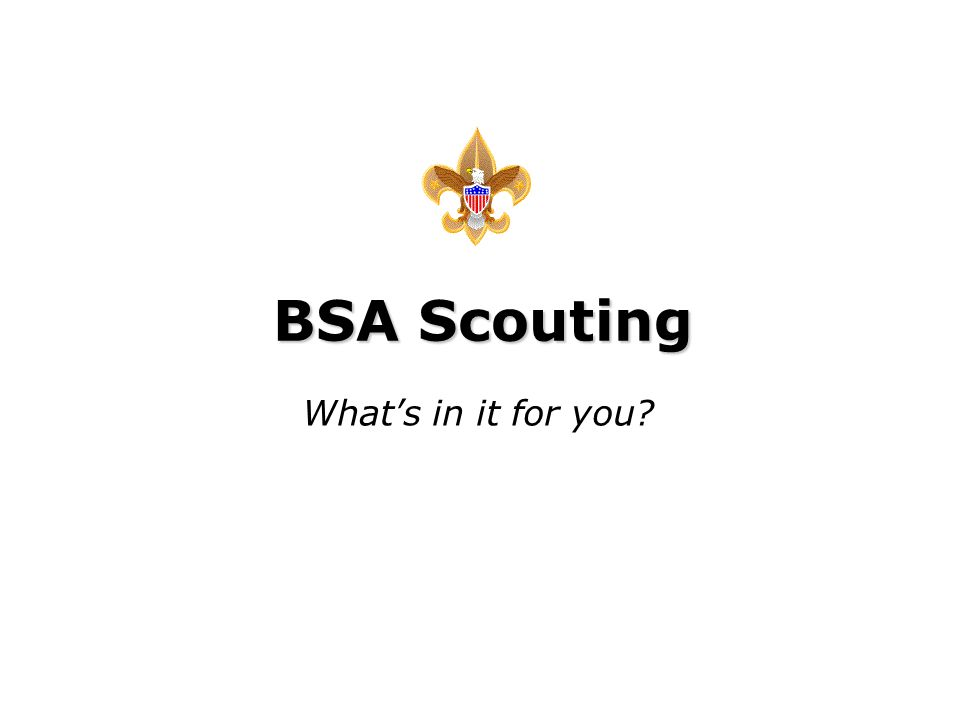 BSA Scouting What's in it for you