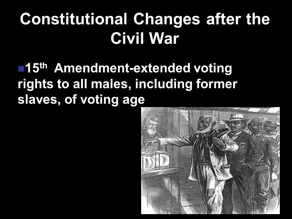 Constitutional Changes after the Civil War