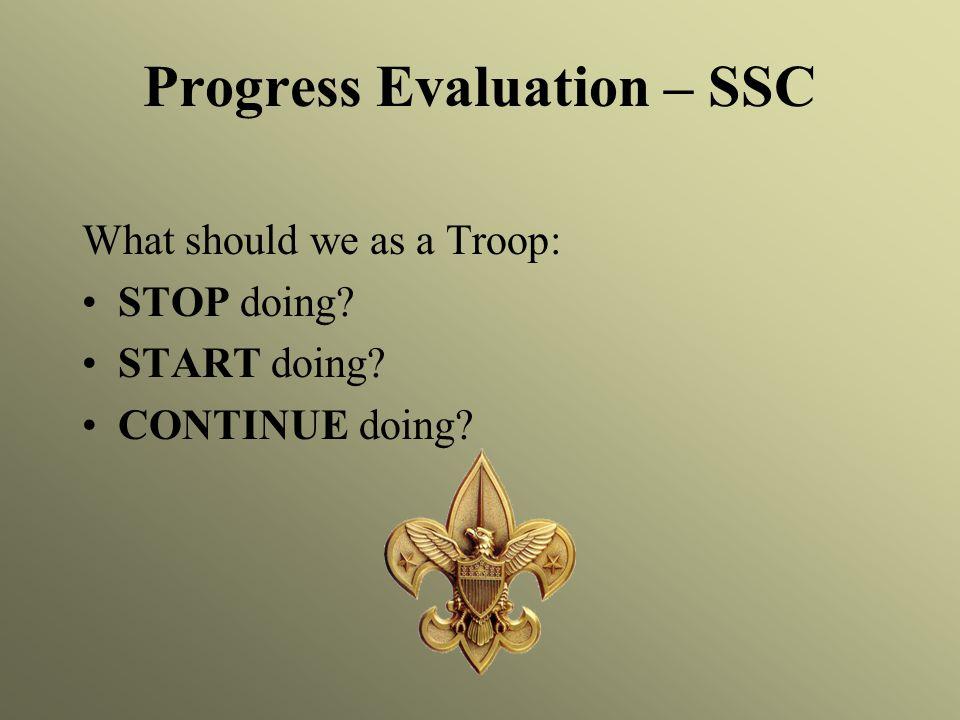 Progress Evaluation – SSC