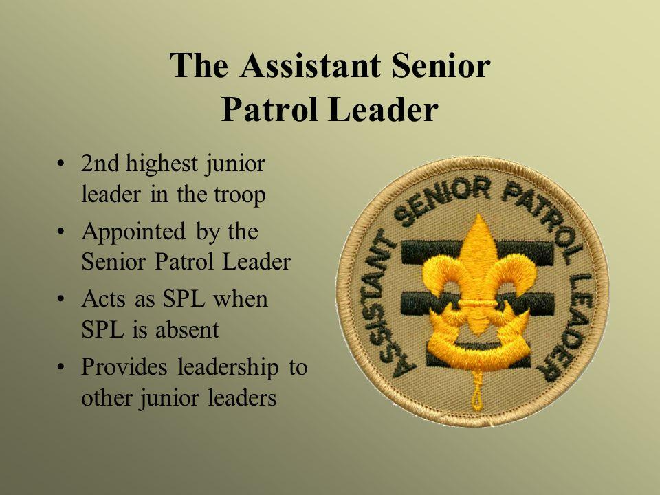 The Assistant Senior Patrol Leader