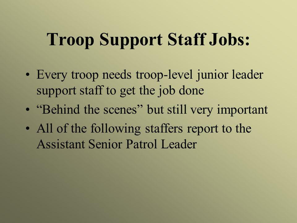 Troop Support Staff Jobs: