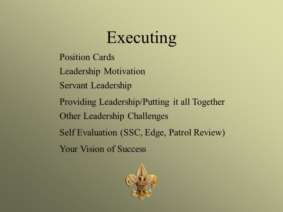 Executing Position Cards Leadership Motivation Servant Leadership