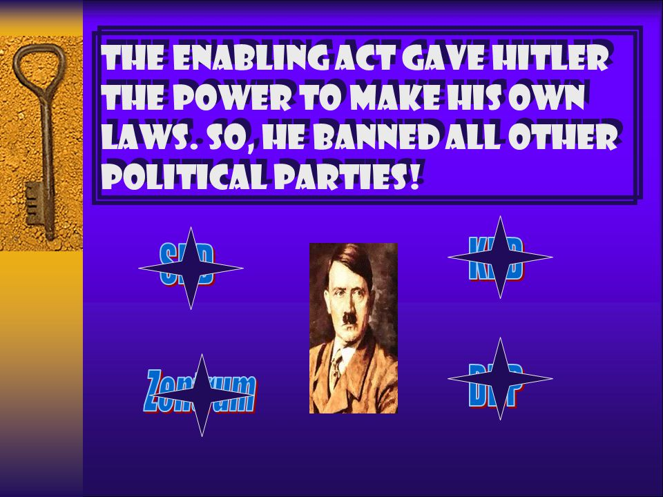 THE ENABLING ACT GAVE HITLER THE POWER TO MAKE HIS OWN LAWS