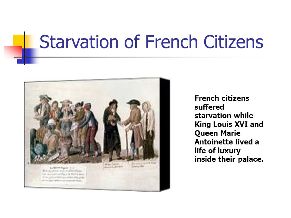 Starvation of French Citizens