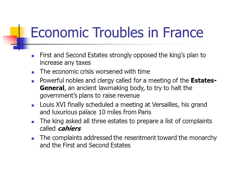 Economic Troubles in France