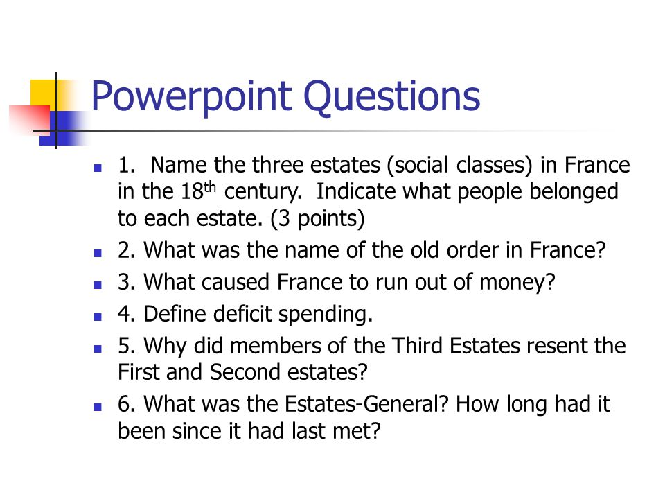 Powerpoint Questions