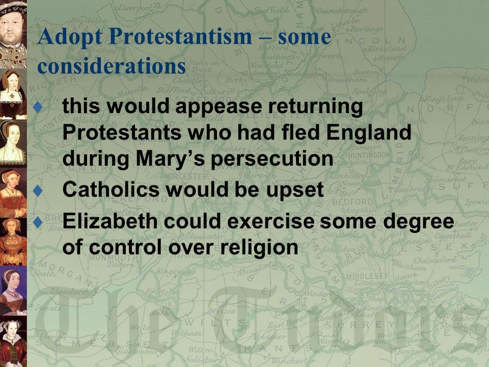 Adopt Protestantism – some considerations