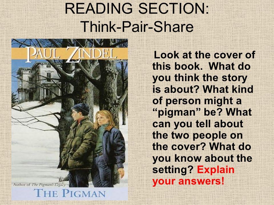 READING SECTION: Think-Pair-Share
