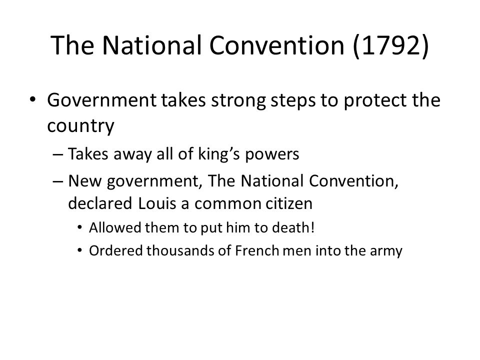 The National Convention (1792)
