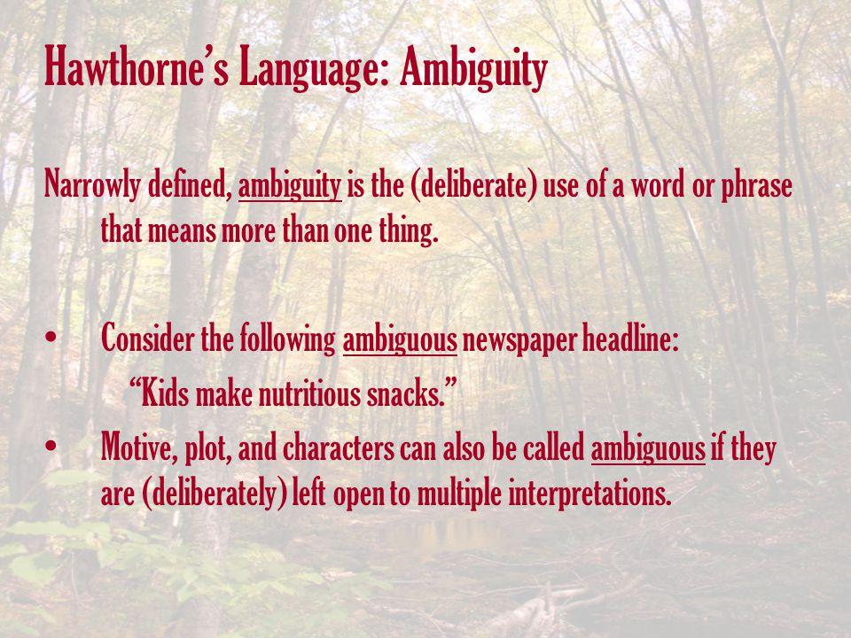 Hawthorne's Language: Ambiguity