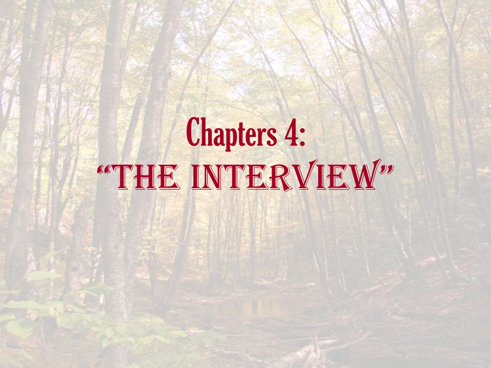 Chapters 4: The Interview