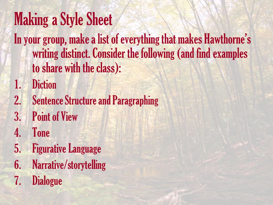 Making a Style Sheet