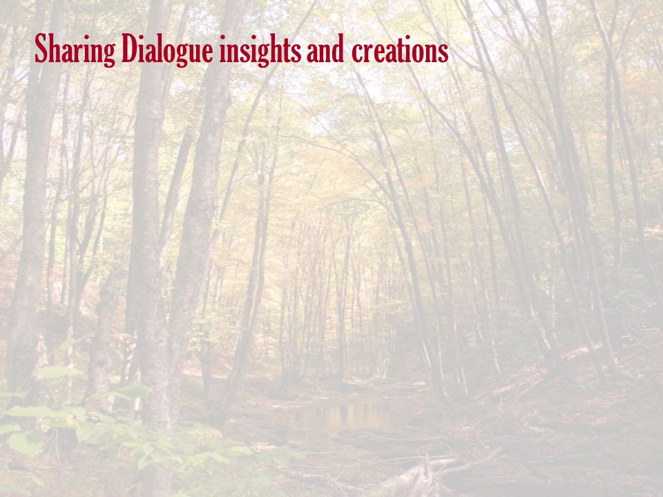 Sharing Dialogue insights and creations
