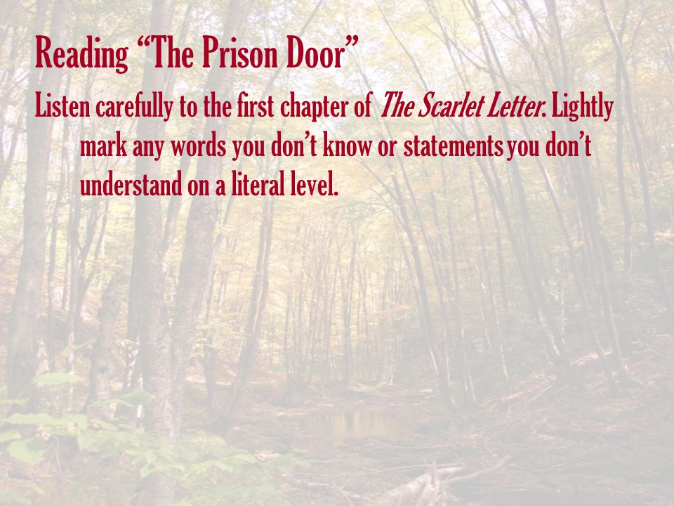 Reading The Prison Door