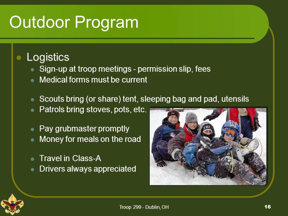 Outdoor Program Logistics