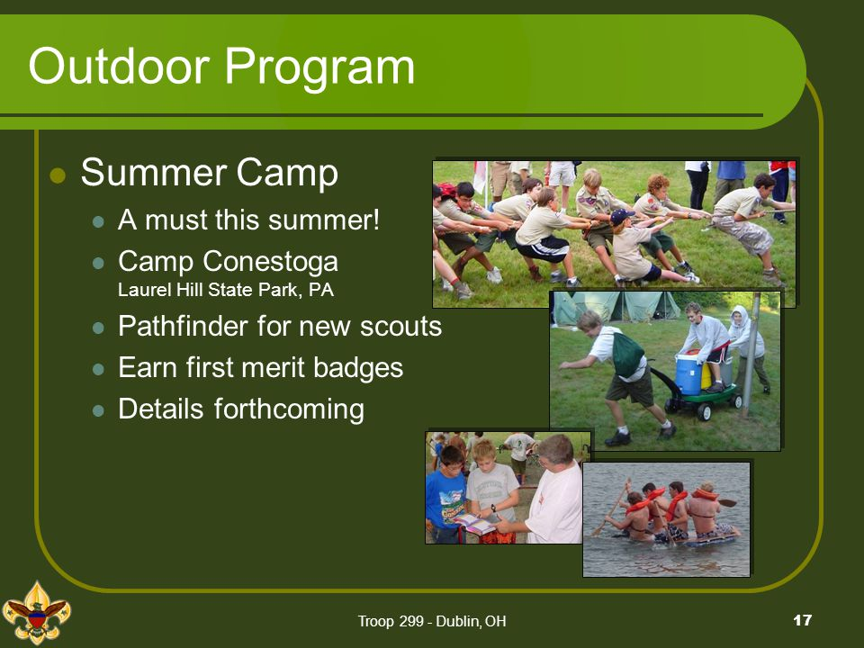 Outdoor Program Summer Camp A must this summer!