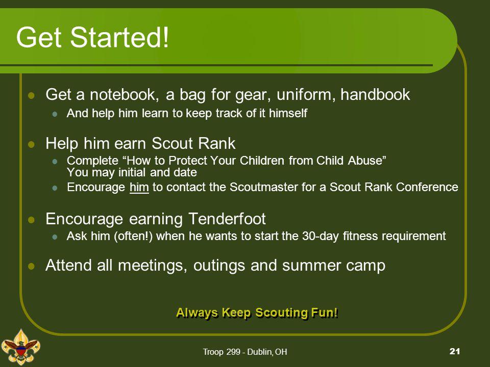 Always Keep Scouting Fun!