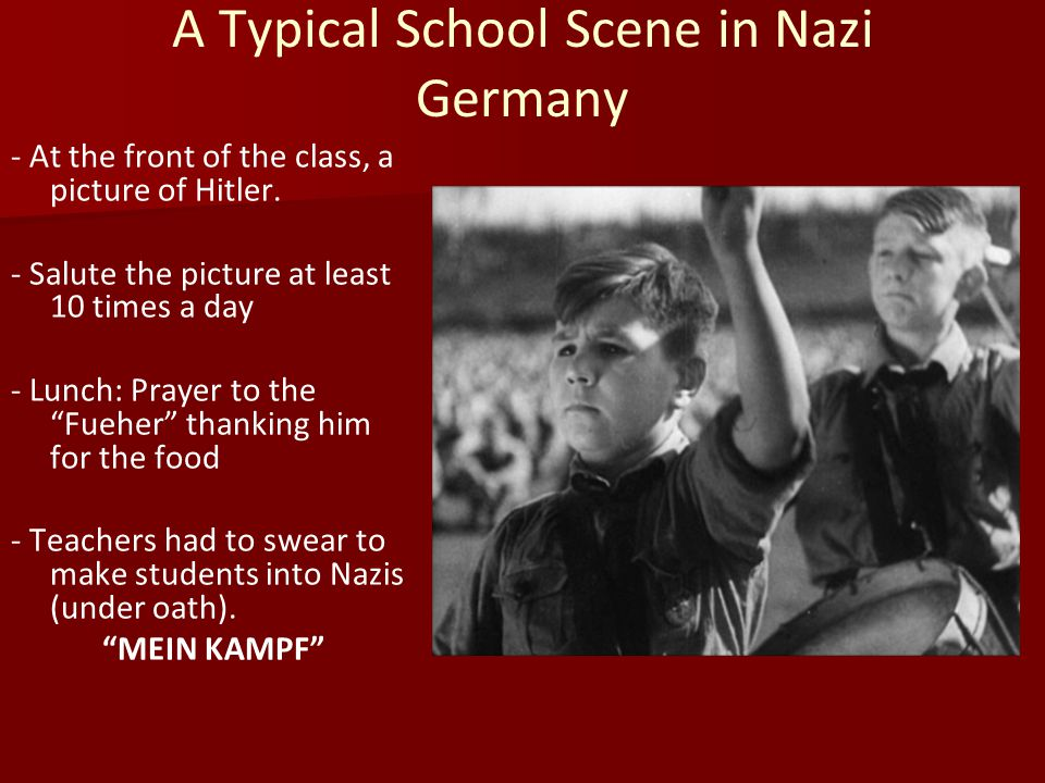 A Typical School Scene in Nazi Germany