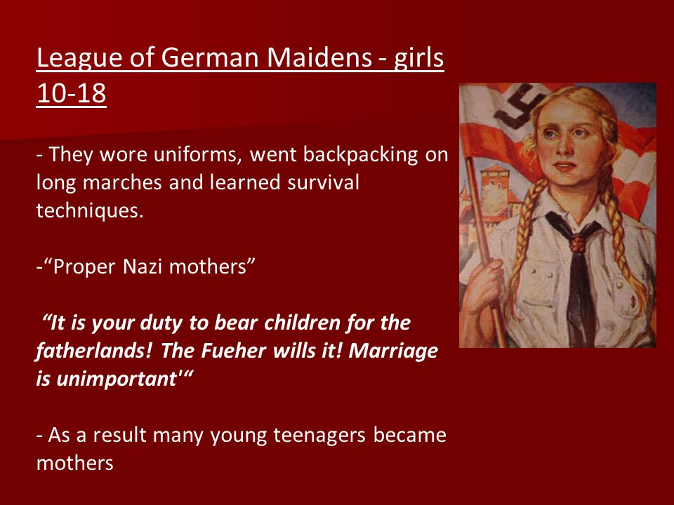 League of German Maidens - girls 10-18