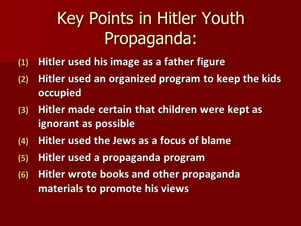 Key Points in Hitler Youth Propaganda: