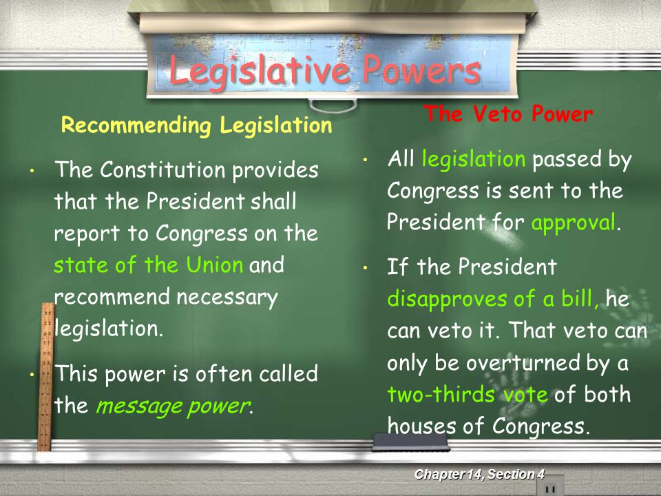 Recommending Legislation