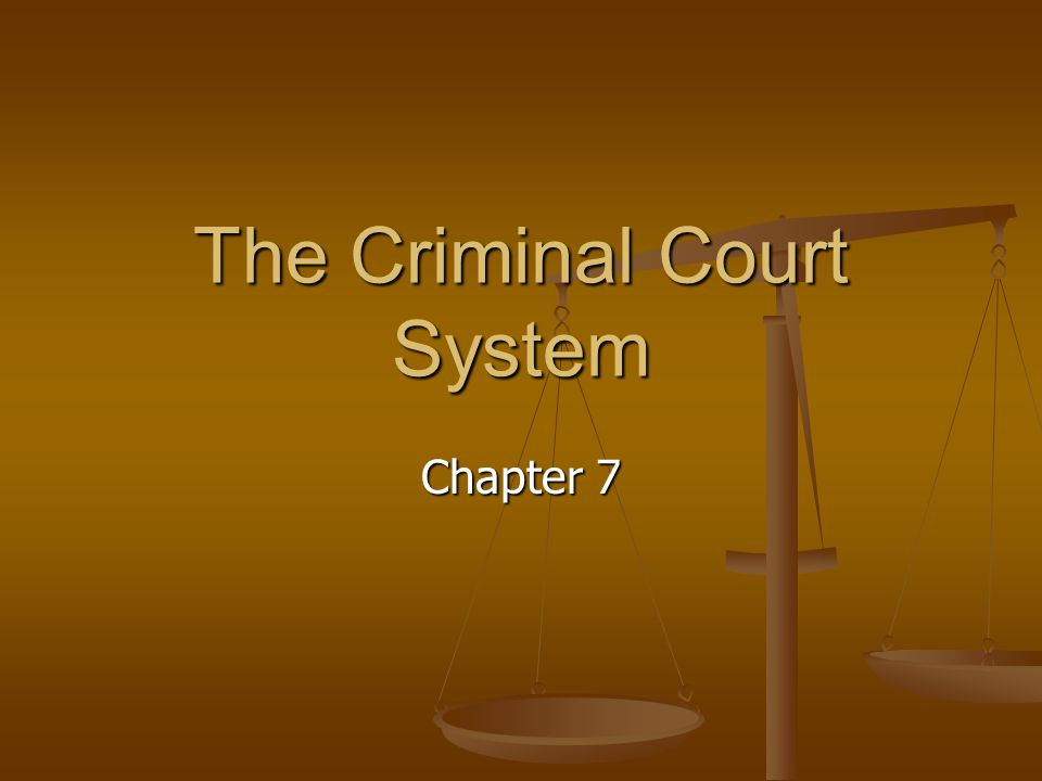 The Criminal Court System